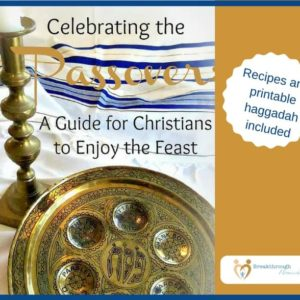 "Celebrating the Passover: A Guide for Christians to Enjoy the Feast - Includes a printable Haggadah for your own use! Read and learn: Why a Passover for Christians?, everything you need to know to prepare your own feast - ""from soup to nuts"", resources for more info, and more..."