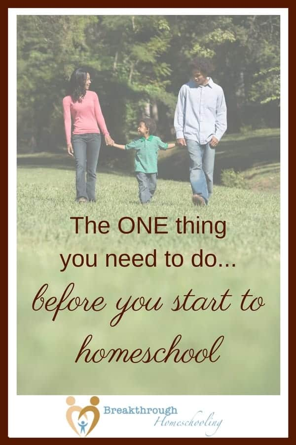 Before you jump into homeschooling, or even if you decide NOT to homeschool your brood, the ONE THING you have to do in the decision-making process is to...