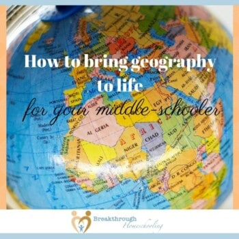 """Although my kids are all avid readers, there's something about the hands-on and multi-sensory approaches and applications to """"real life"""" of this subject that goes beyond books. There is a myriad of ways to teach geography, and an equal amount of fun, interesting and practical ways to apply it."""