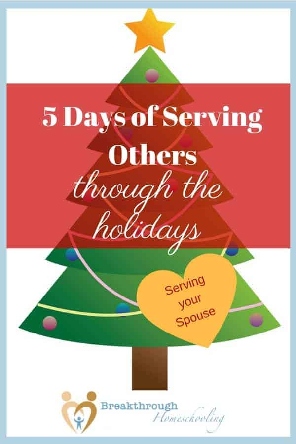 "Welcome to ""5 Days of Serving Others through the Holidays!"" Let's start at ""home base,' shall we? The heart of the home is mom and dad, so..."