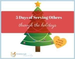 "During this series ""5 Days of Serving Others through the Holidays"", we're looking at using the gift of service to bless those we love!"