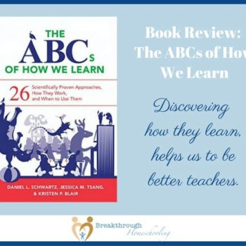 The ABCs of How We Learn is an important book for home educators.Knowing how both we and our children learn helps the learning process flow easily!