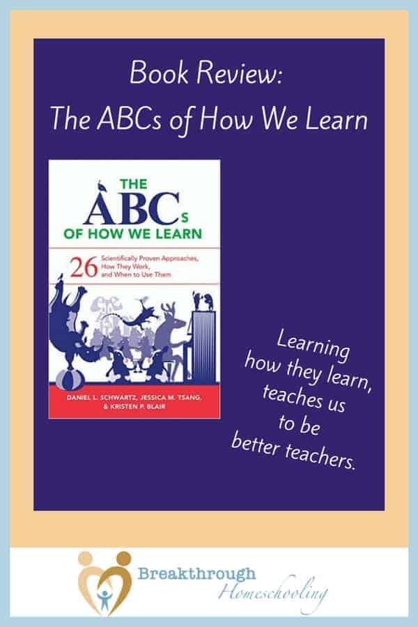 The ABCs of How We Learn: Learning how our kids learn helps us to become better teachers! There's always room for growth - and this is a super resource to have around! Recommended for homeschool teachers of middle- and high-schoolers.