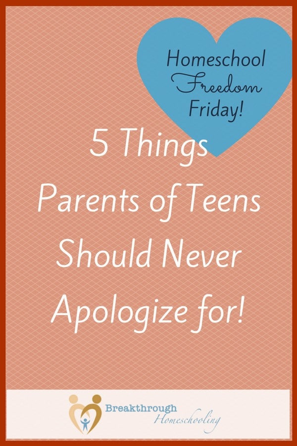 Yes, I believe parents should be transparent and model asking for forgiveness when we inevitably mess up...but there ARE some things that we should NEVER apologize for!