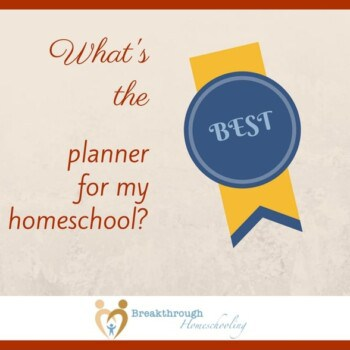 """While it's not the complete answer, a big response to the question """"What's the BEST planner from my homeschool?"""" is - """"Well, what format will you USE?"""" Read on for a brief summary of some of the more-popular choices today..."""