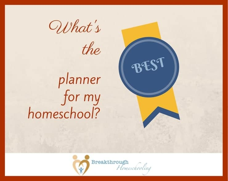 "While it's not the complete answer, a big response to the question ""What's the BEST planner from my homeschool?"" is - ""Well, what format will you USE?"" Read on for a brief summary of some of the more-popular choices today..."