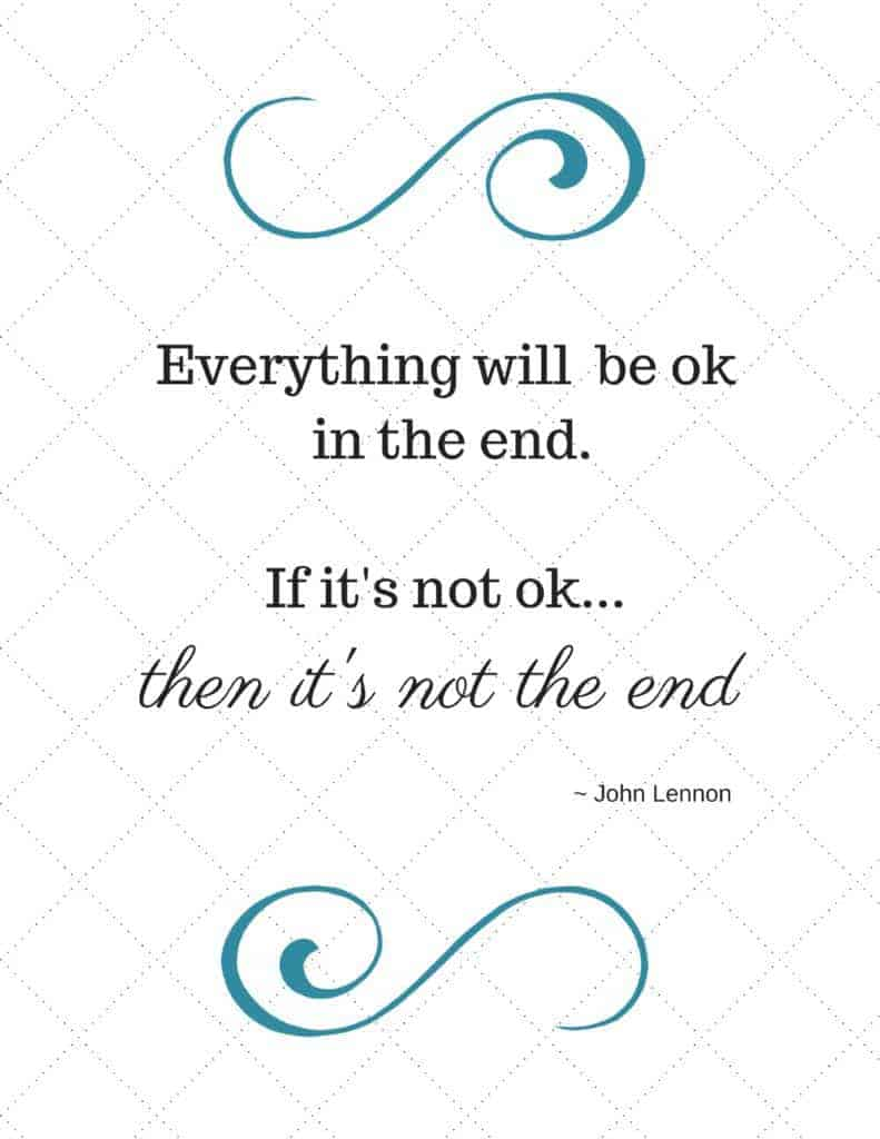 "20 Inspiring Quotes for your Teen - Find ""Everything will be ok in the end..."" and MORE! Sized to print and frame..."