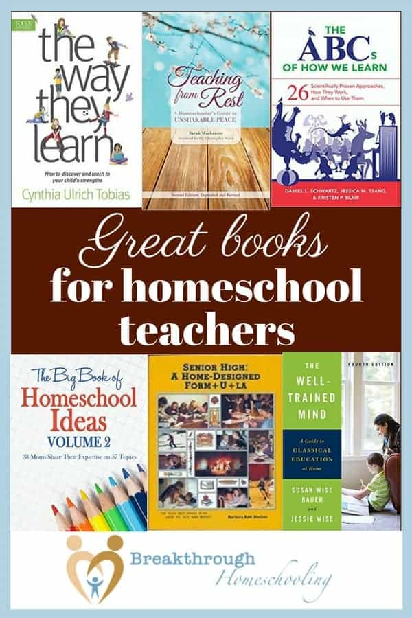 As a firm believer that every homeschool mom/teacher should model a lifestyle of learning, these are some of the books I'd recommend for EVERY bookshelf!