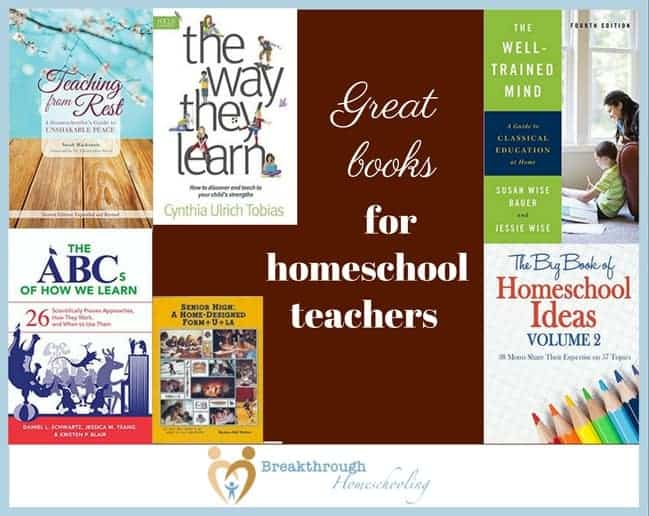 "If you're trying to find some worthwhile books to put on your shelf, try these for starters - my ""must haves"" for every homeschool mom/teacher!"