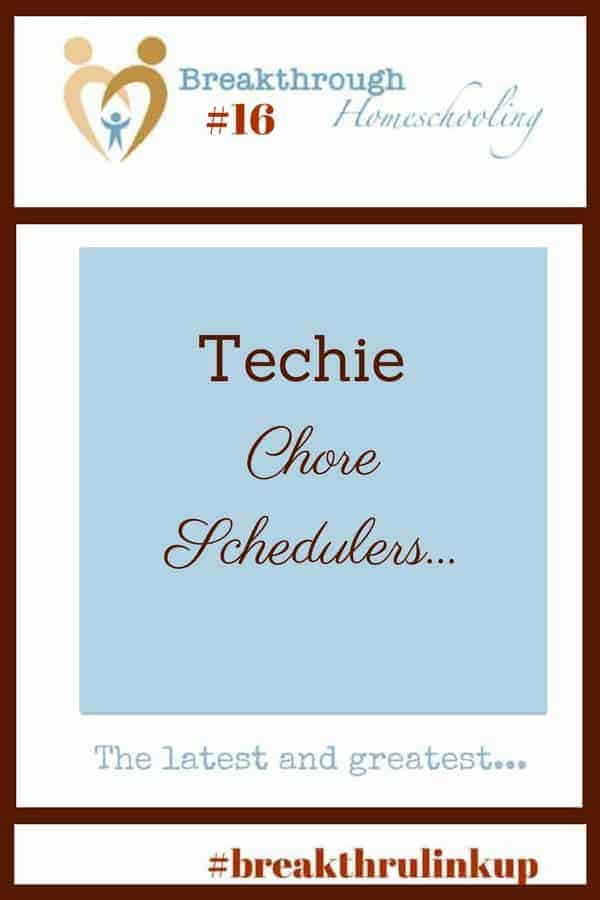 "Though the Christmas is over, it is STILL the season for many of us to work anew on gettin' our act together! And one of the things we moms commit to - both periodically and annually - is getting the kids more involved with chores. One of these ""techie chore schedulers"" may fit the bill!"