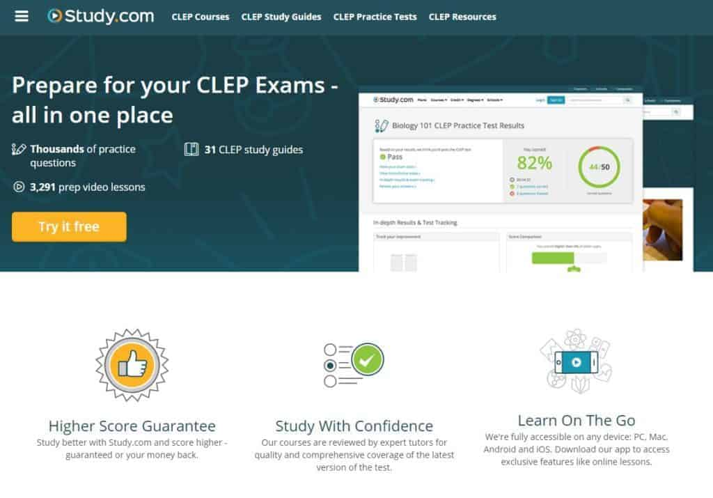 CLEP Study Guides by Study.com are a great CLEP test prep tool! Worth it for the homeschooling high school parent to add to their teaching toolkit!