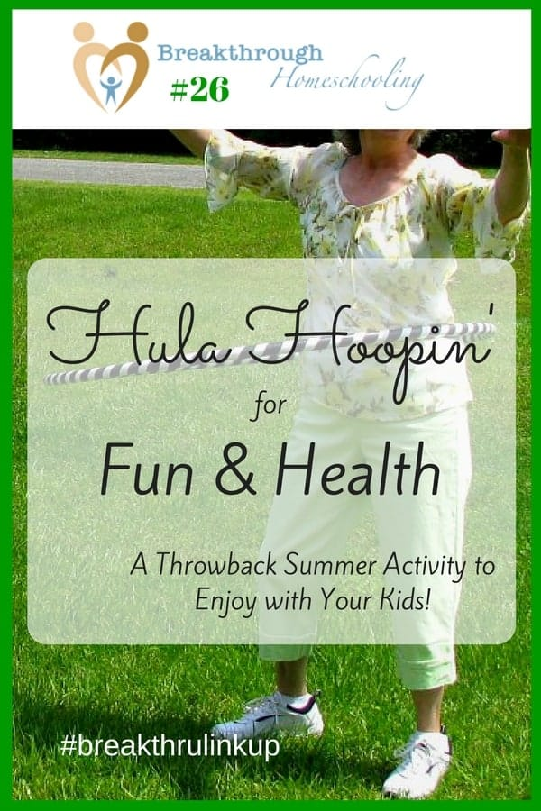 Hula Hooping is a fun, old-school form of exercise you can do with the kids! Try it out this summer together...