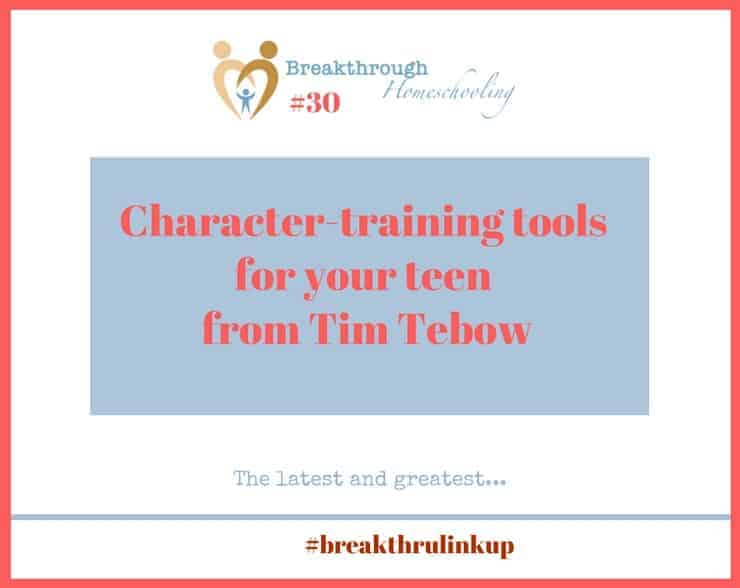 Tim Tebow has yet another book coming out to help us teach our teens about character!