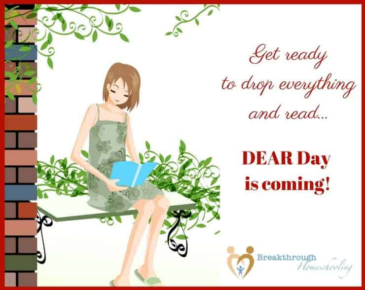 "Welcome to #breakthrulinkup 27 - and get the ""heads up"" on DEAR Day! Grab a good book, clear you calendar, and ""drop everything and read""!"