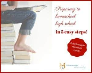 "Enjoy this 5-day ""mini-series"" to help you prepare for homeschooling high school! Whether it's something that you, or a very good friend of yours, is considering, here's the skinny to help you get started."