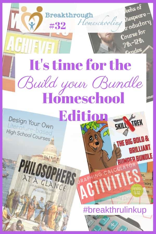 The 2018 edition of Build Your Bundles has a ton of stuff that will energize and equip your homeschool in the coming year!