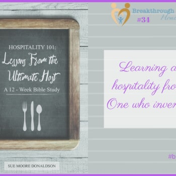 Learn more about hospitality in this fun summer Bible study - and share it with a friend!