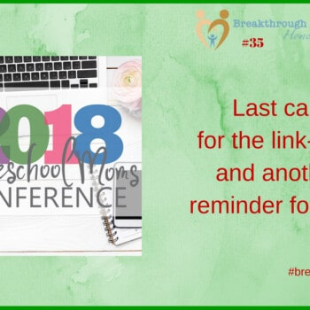 Head on over to the 2018 Homeschool Moms Conference for support and encouragement! Tools for the journey...
