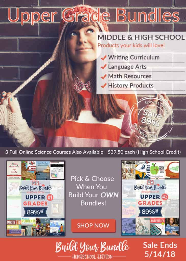 There are some great resources for high school homeschoolers (and middle schoolers!) in this year's Build Your Bundle *Homeschool Edition*!
