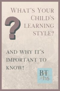 Why it's important to know your child's learning style