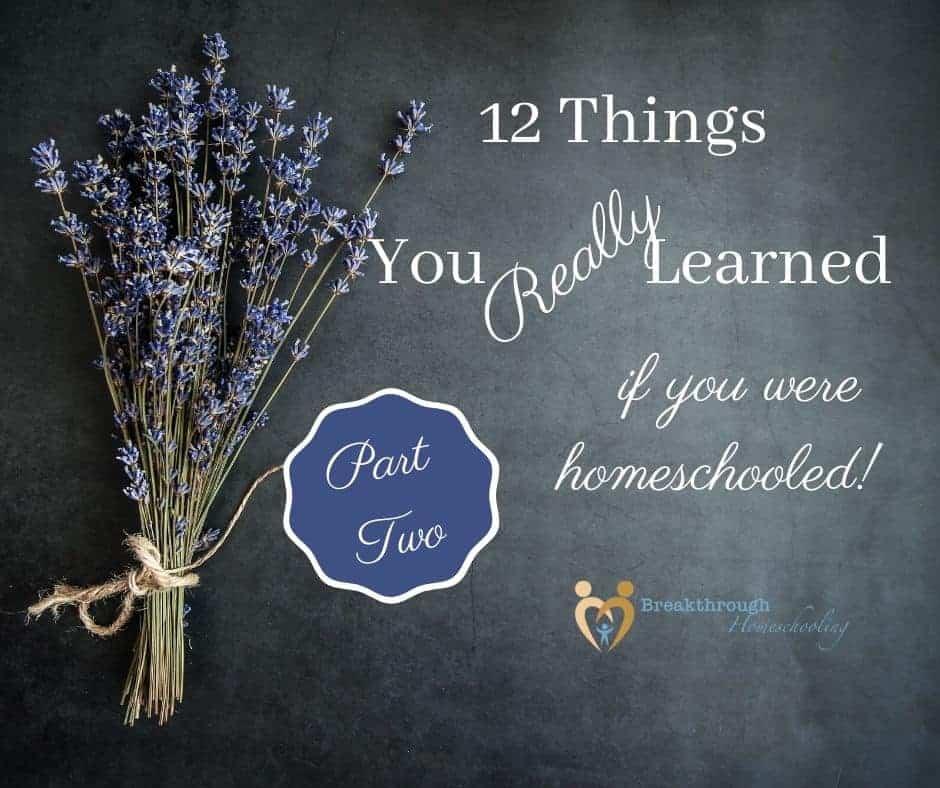 12 Things You Really Learned if You Were Homeschooled