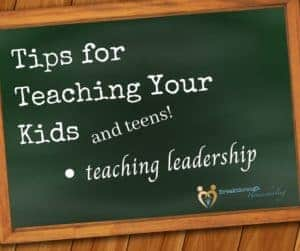 Tips for teaching leadership