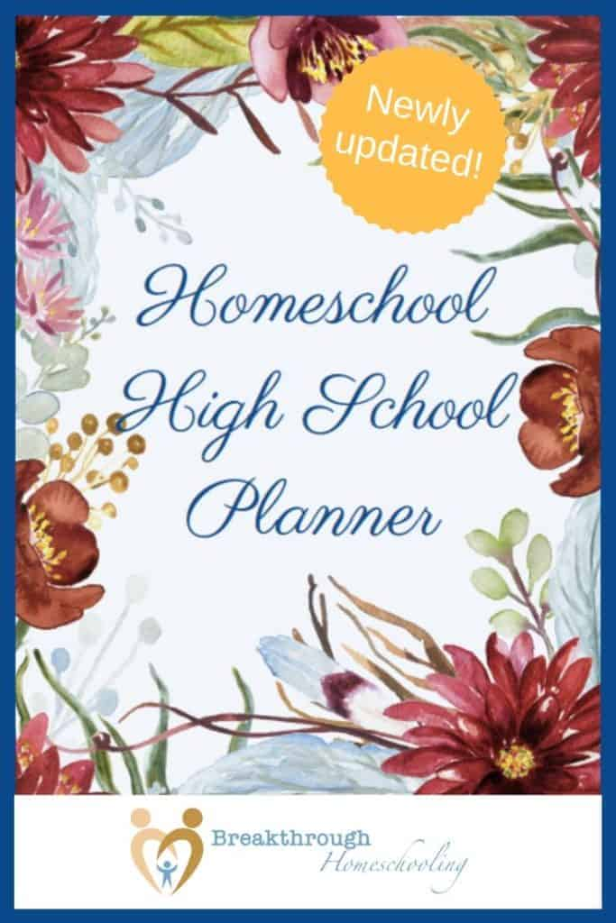 homeschool high school planner
