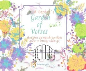 A Parent's Garden of Verses - week 2