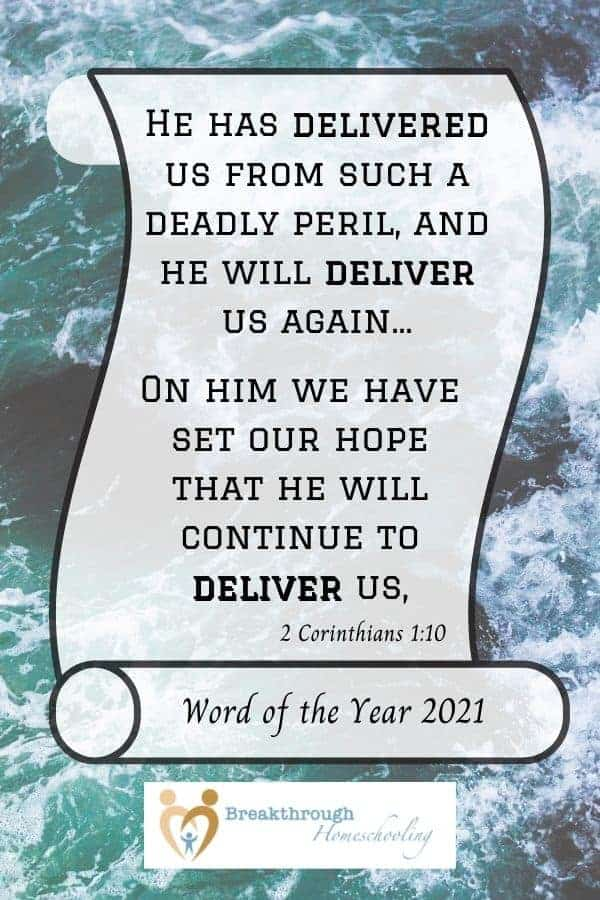 Deliver- Word of the Year