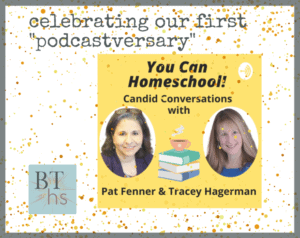 You Can Homeschool podcast anniversary