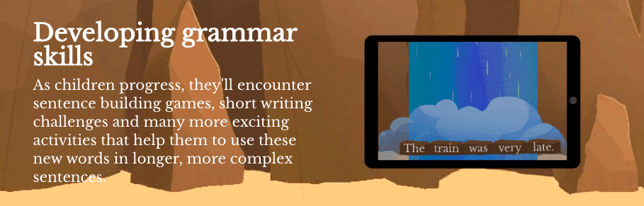 learn grammar as they write with Night Zookeeper
