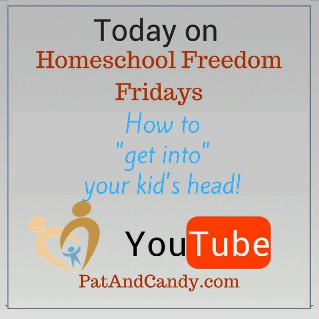 """Homeschool Freedom Fridays - How to """"get into"""" your kid's head!"""