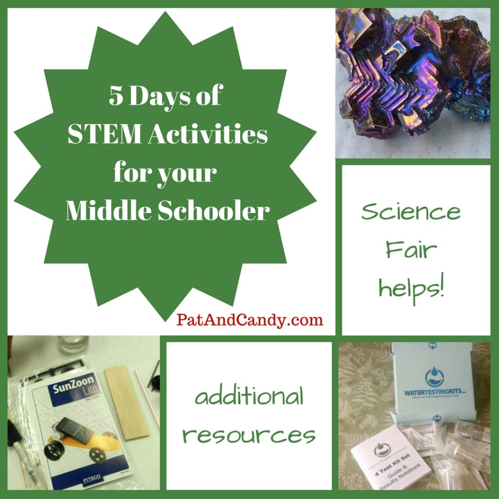 Join us for 5 Days of STEM Activities and Resources for your Middle Schooler!!