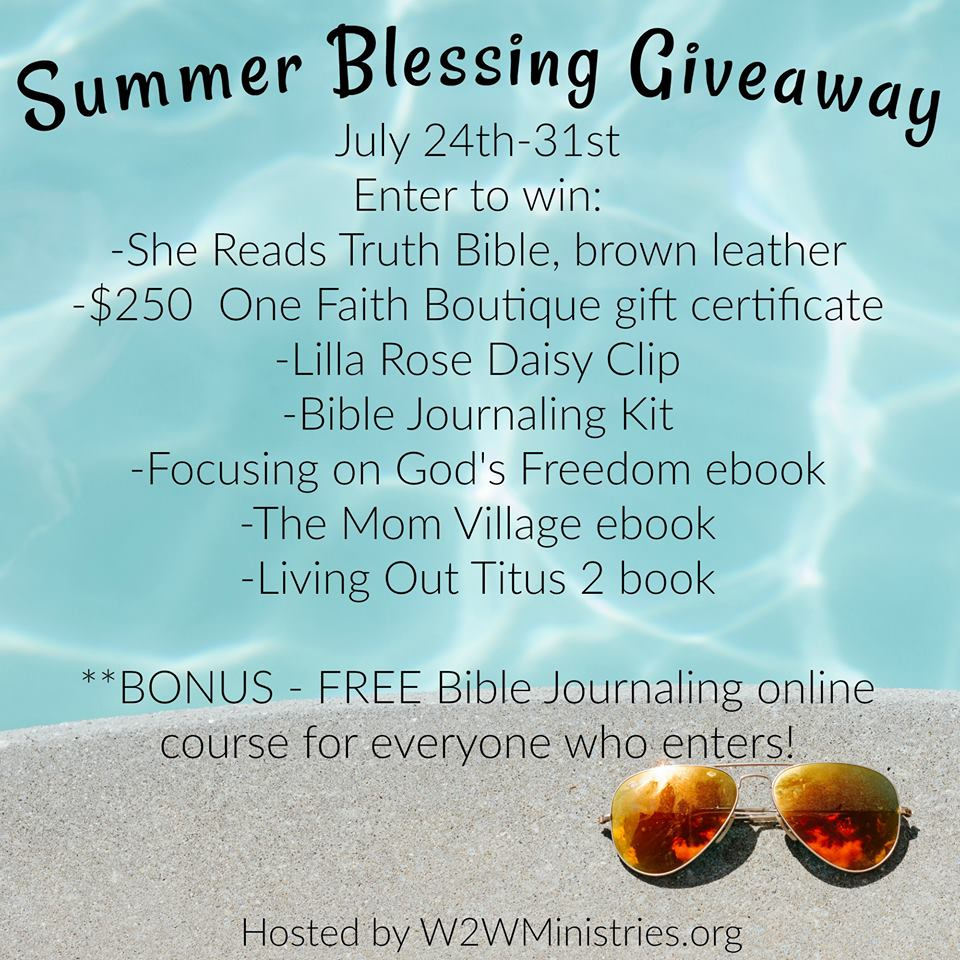 Enter to win the Summer Blessings Giveaway 2017
