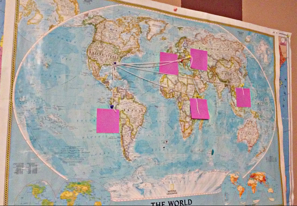 world map of missionaries